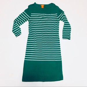 Joe Fresh Green & Blue Striped Dress
